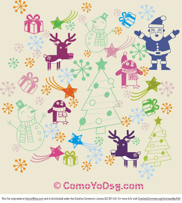 Free clipart christmas patterns transparent stock Christmas Pattern - Free Vector Art transparent stock