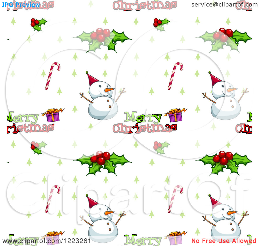 Free clipart christmas patterns vector black and white library Clipart of a Seamless Background Pattern of Merry Christmas Text ... vector black and white library