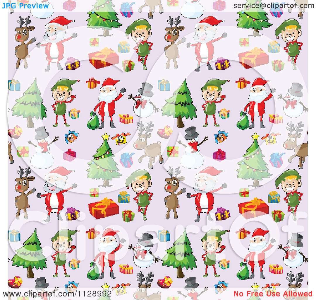 Free clipart christmas patterns clip free library Cartoon Of A Seamless Christmas Background Pattern - Royalty Free ... clip free library