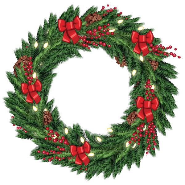 Free clipart christmas wreath vector library download Christmas Wreath Transparent PNG Pictures - Free Icons and PNG ... vector library download