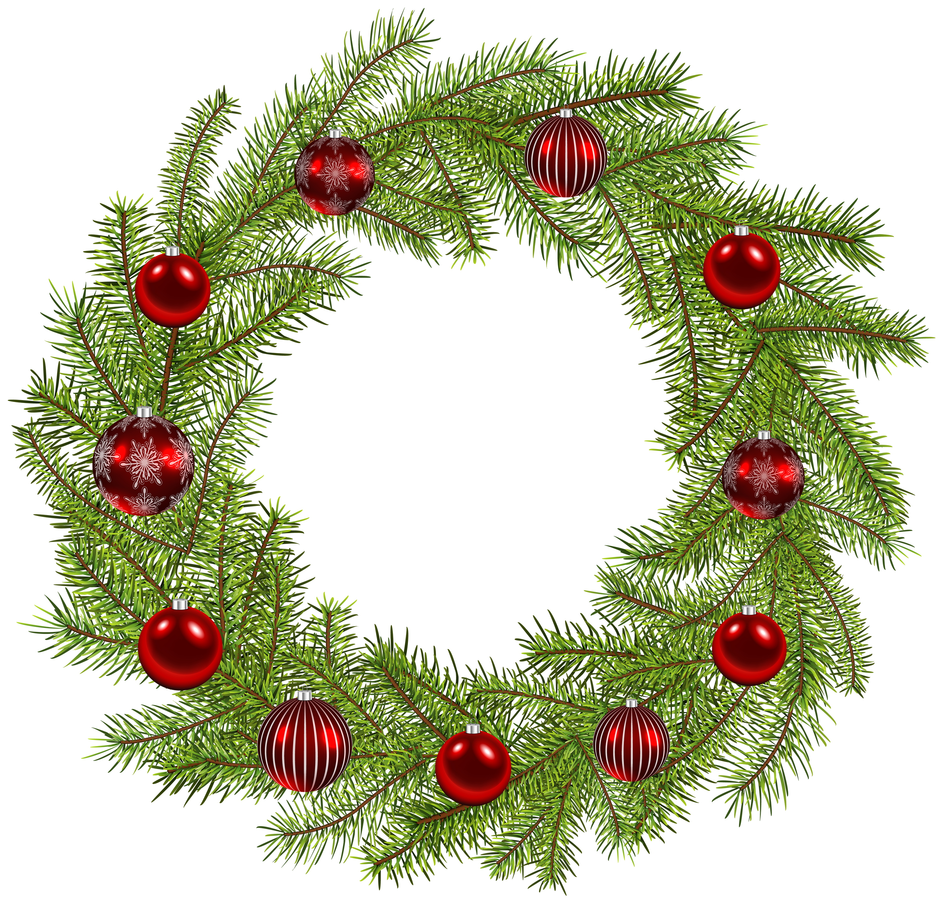 Free clipart christmas wreath svg black and white download Deco Christmas Wreath PNG Clip Art Image | Gallery Yopriceville ... svg black and white download