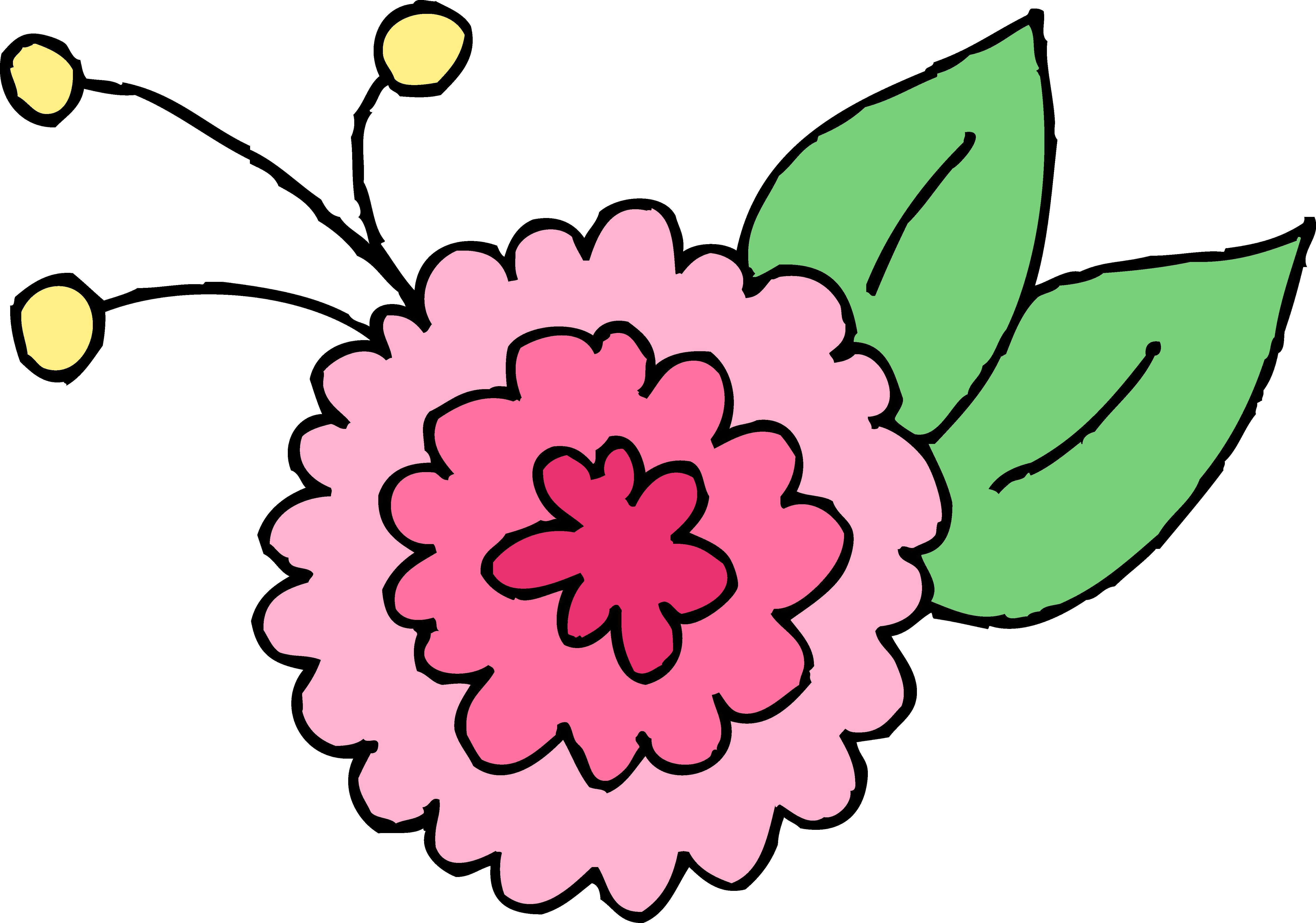Free clipart chrysanthemum. Cute pink flower clip