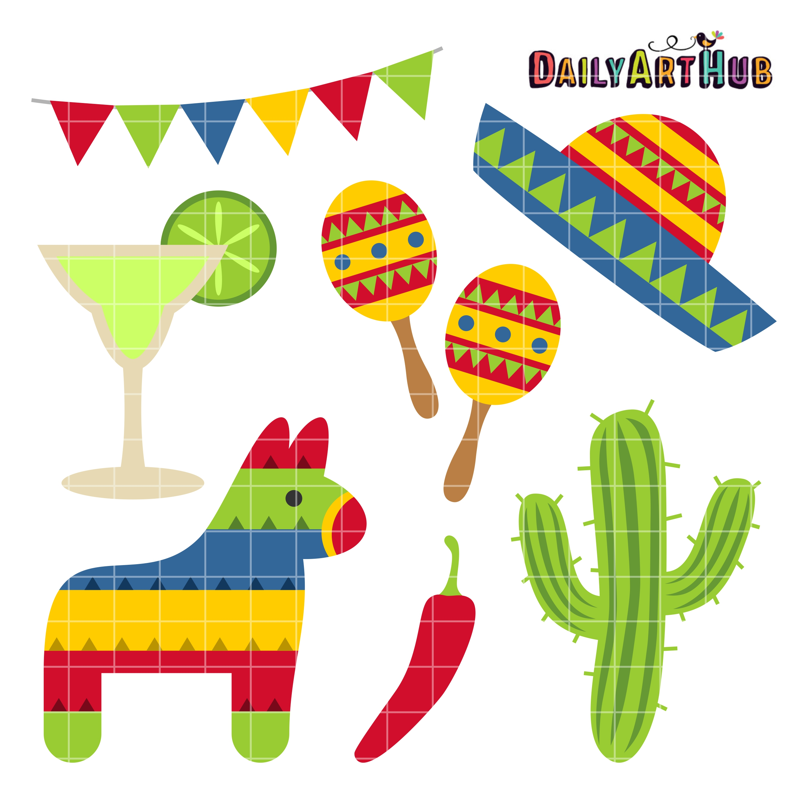 Free clipart cinco de mayo jpg freeuse library Cinco de Mayo Clip Art Set jpg freeuse library