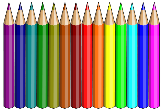 Free clipart colored pencils svg royalty free rainbow of pencils | Pencils | Pencil clipart, Colored pencils, Pencil svg royalty free