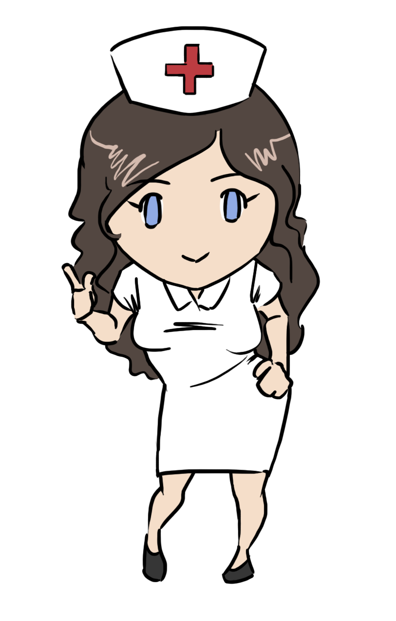 Find free clipart or pics of woman checking turkey to see if done royalty free library This gorgeous nurse clip art done in cute chibi style is free for ... royalty free library