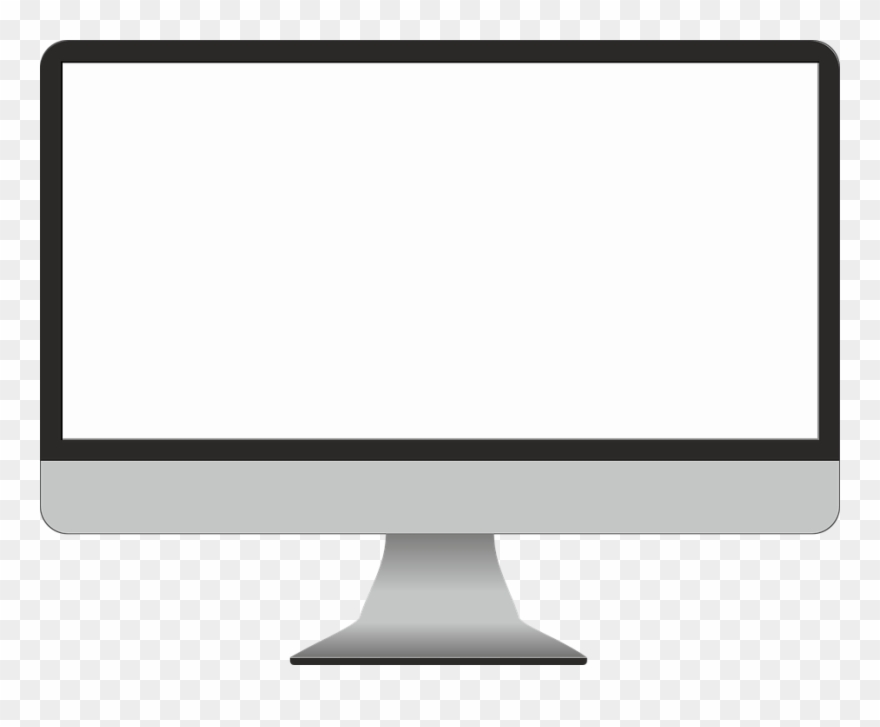 Free clipart computer screen clip transparent library Computer With Blank Screen Free Clipart (#1648360) - PinClipart clip transparent library