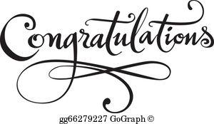 Free clipart congratulations clip art black and white library Congratulations Clip Art - Royalty Free - GoGraph clip art black and white library