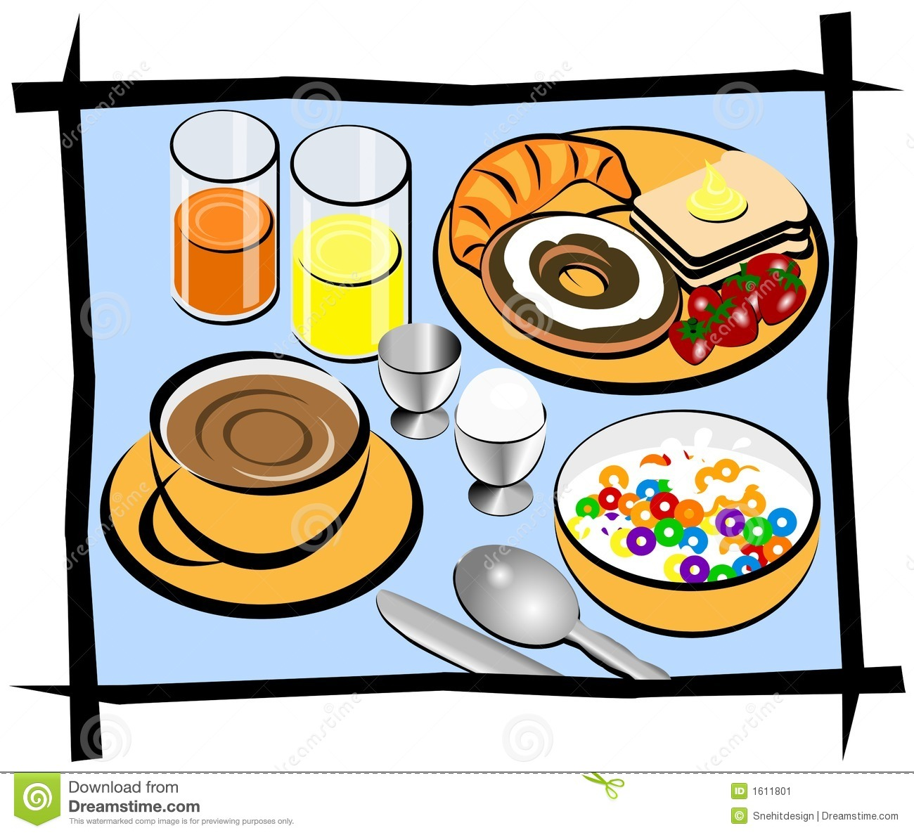 clipartlook. Free clipart continental breakfast food items