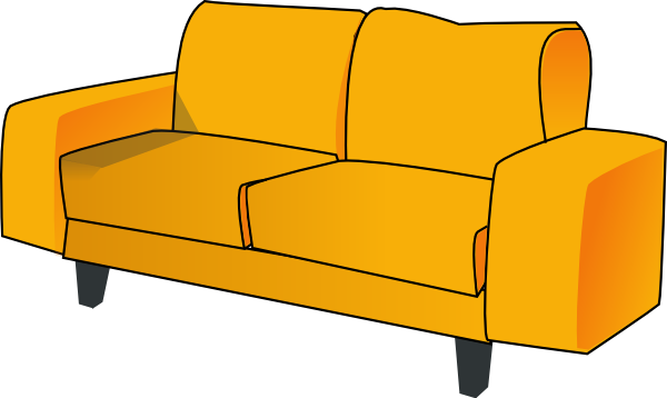 Free clipart couch clipart royalty free stock Couch clip art - vector clip art online, royalty free public domain ... clipart royalty free stock