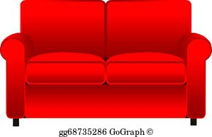 Free clipart couch picture royalty free stock Couch Clip Art - Royalty Free - GoGraph picture royalty free stock