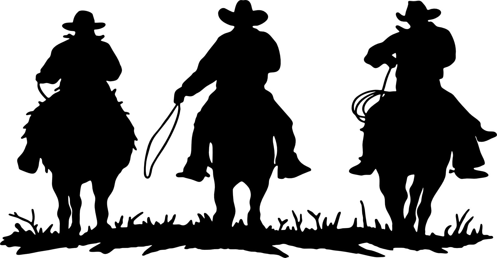 Free clipart cowboys walking with horse vector free stock Free Cowboy Silhouette Vector, Download Free Clip Art, Free Clip Art ... vector free stock