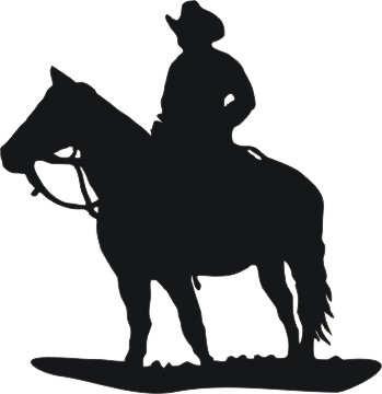 Free clipart cowboys walking with horse picture free stock Free Cowboy Silhouette, Download Free Clip Art, Free Clip Art on ... picture free stock