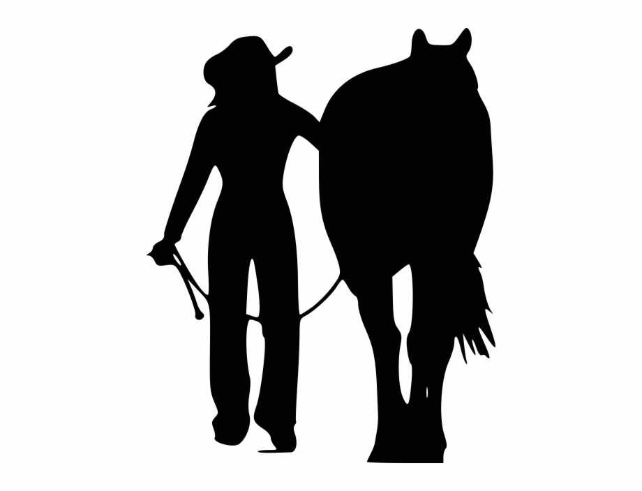 Free clipart cowboys walking with horses border picture freeuse Girl Walking A Horse Free PNG Images & Clipart Download #4802895 ... picture freeuse