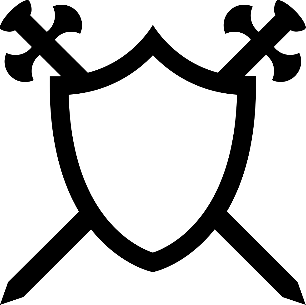 Free clipart cross shield graphic free download Shield With Two Swords In Cross Svg Png Icon Free Download (#7790 ... graphic free download