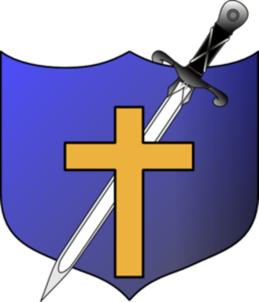 Free clipart cross shield picture black and white download Cross Sword And Shield No Letters Md | Free Images at Clker.com ... picture black and white download