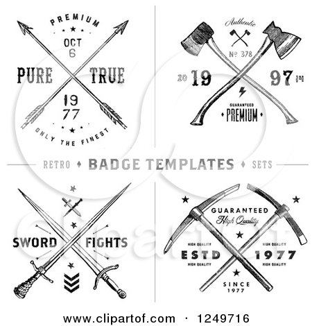 Free clipart cross with arrow vector transparent stock Royalty-Free (RF) Clipart of Hatchets, Illustrations, Vector ... vector transparent stock