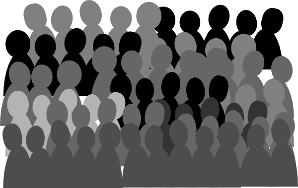 Free clipart crowd.  clipartlook