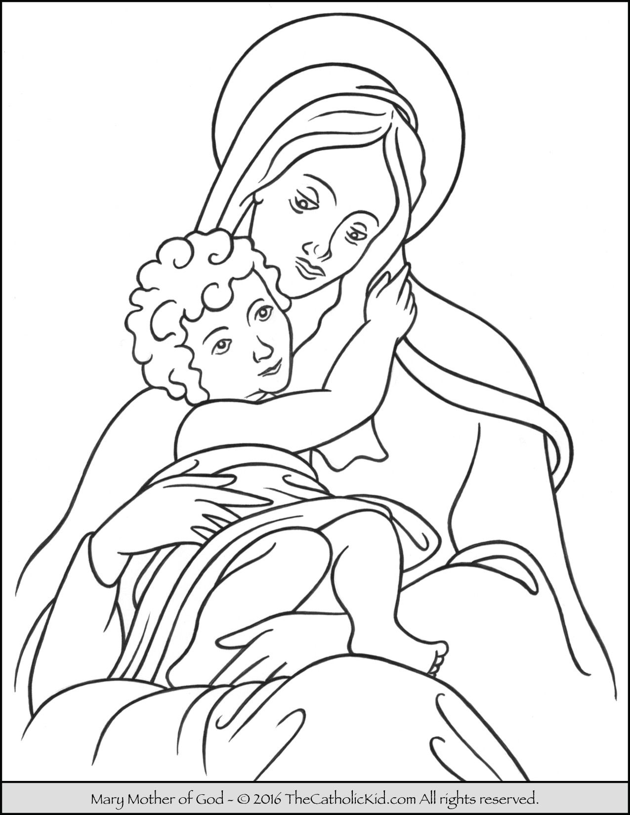 Free clipart crowing mary mother of god. Coloring page saints our