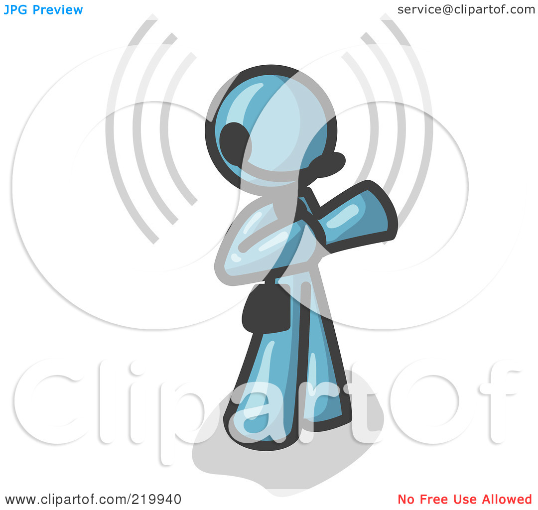 Free clipart customer service representatives graphic transparent download Royalty-Free (RF) Clipart Illustration of a Denim Blue Customer ... graphic transparent download