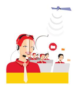 Free clipart customer service representatives clip black and white Customer Service Representatives Talking on Headsets - Royalty ... clip black and white