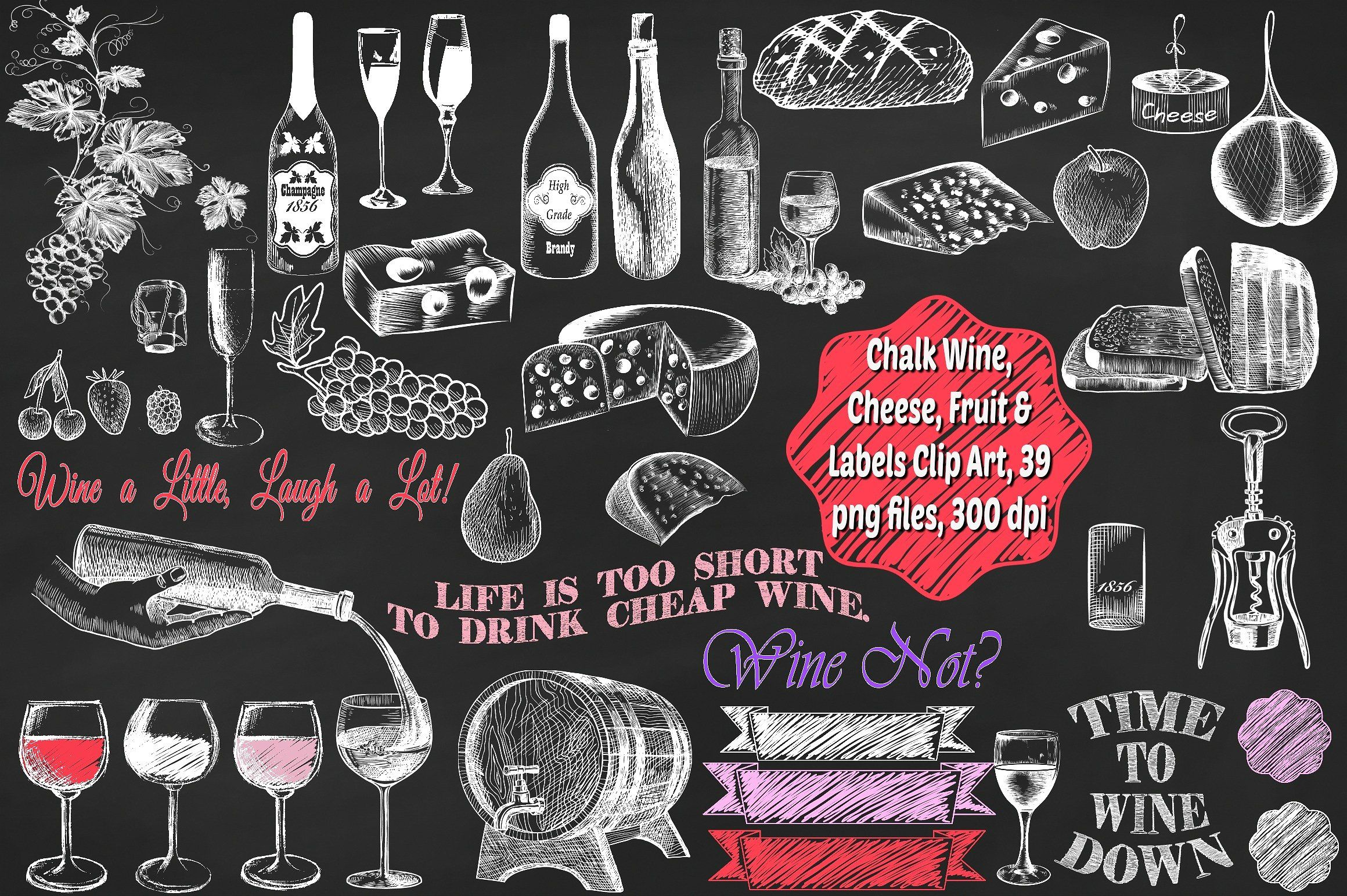 Free clipart cute hound wine & cheese png library download Buy and sell handcrafted, mousemade design content like vector ... png library download