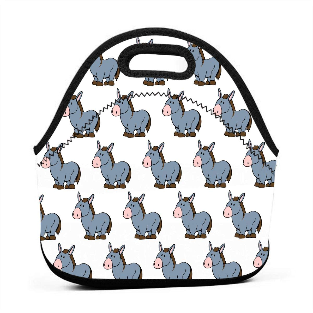 Free clipart cute hound wine & cheese royalty free Amazon.com: Lunchbox - Cute Horses Gourmet Tote Pouch Organizer for ... royalty free