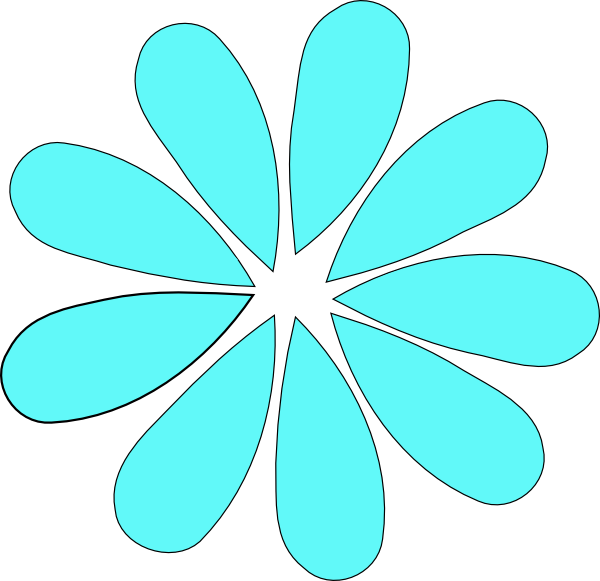 Free clipart daisy flower free Turquoise Daisy Flower Clip Art at Clker.com - vector clip art ... free