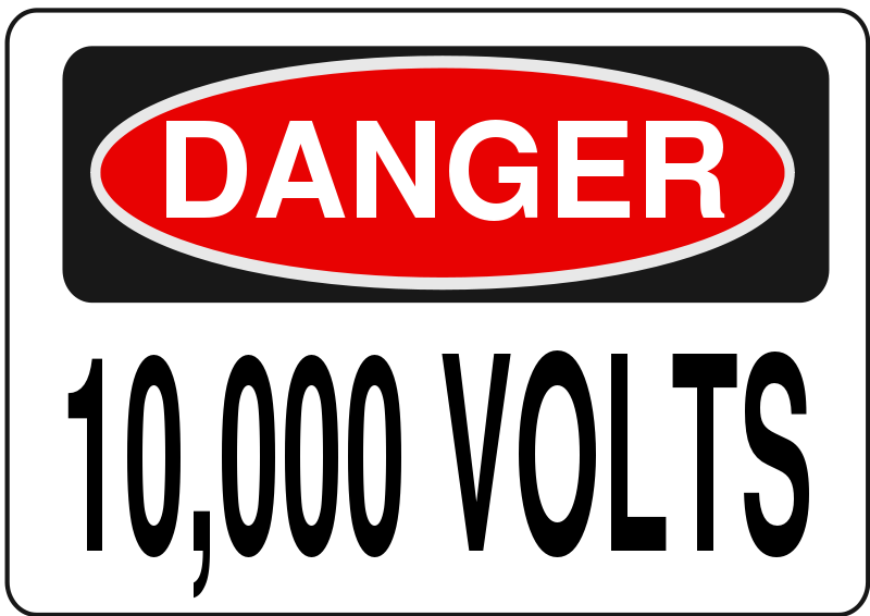 Free clipart danger clipart transparent Free Clipart: Danger - 10,000 Volts | Rfc1394 clipart transparent