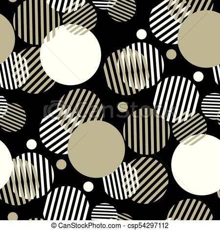 Free clipart designs headers geometric black white png free library Dynamic geometry seamless motif with striped circles for header,  background, etc. Black, white and beige color geometric pattern for surface  design. png free library