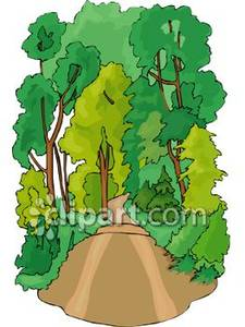 Free clipart dirt road clip freeuse Dirt Road In the Woods - Royalty Free Clipart Picture clip freeuse