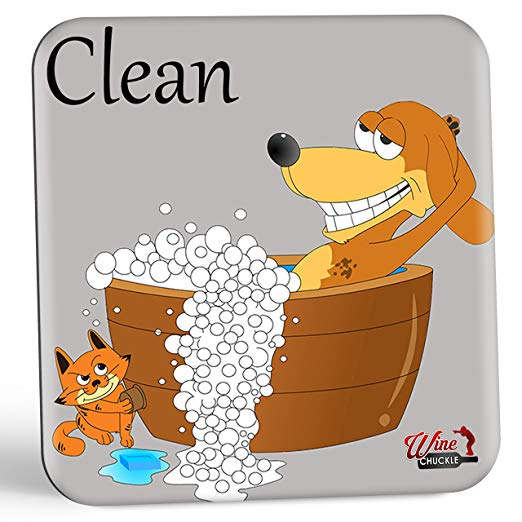 Dish doggy clean magnet. Free clipart dirty silverware in the dishwasher