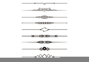 Decorative images at clker. Free clipart divider