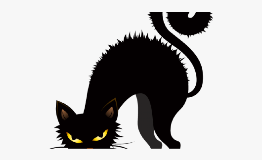 Free clipart dog cat halloween. Creepy black