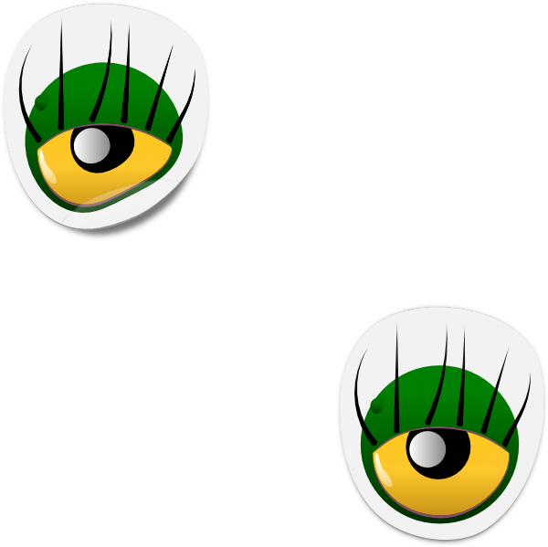 Free clipart dog face png royalty free Dogface Jim Monster Eye Sticker Clip Art at Clker.com - vector clip ... png royalty free