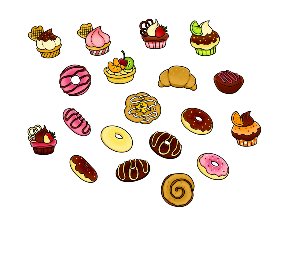 Free clipart dog treats clipart library stock Free - Pastry Treats Coloured by Gormstar on DeviantArt clipart library stock