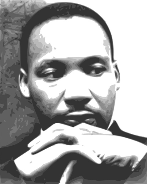 Free clipart dr martin luther king. Jr clip art vector