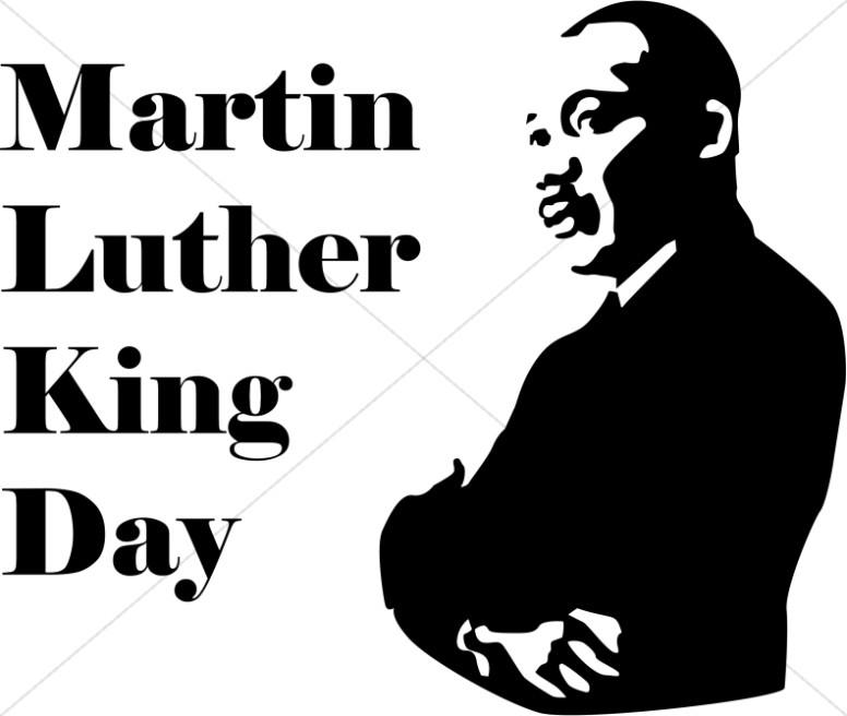Day with silhouette . Free clipart dr martin luther king