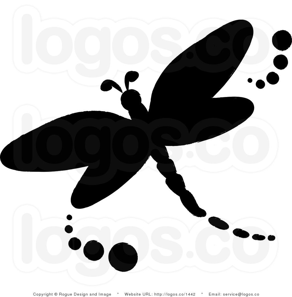 Free clipart dragonfly silhouette jpg stock Royalty Free Vector Logo Icon of a Black Dragonfly Silhouette ... jpg stock