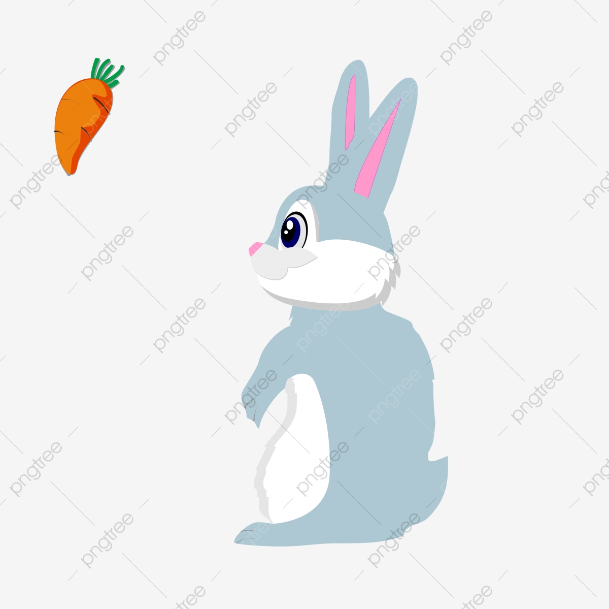 Free clipart drawings of rabbits in the forest. Little grey rabbit carrot