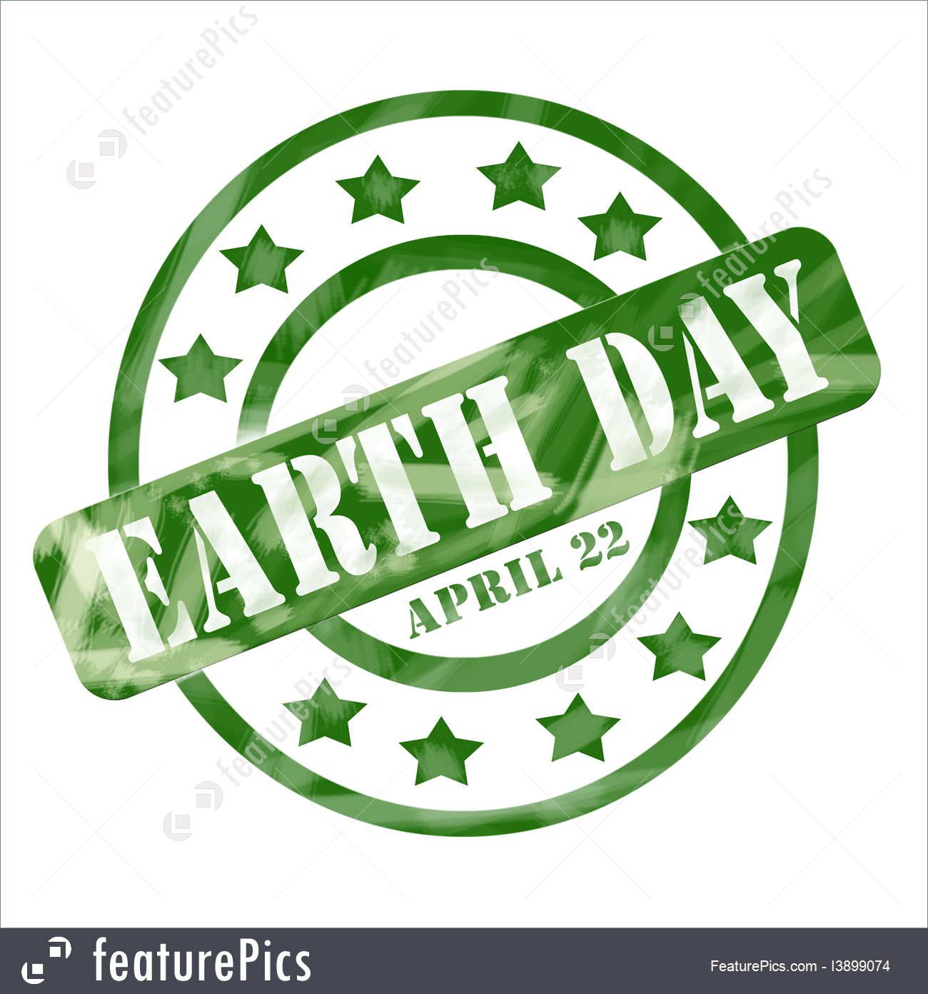 Free clipart earth day april 22 svg free Green Weathered Earth Day April 22 Stamp Circles And Stars Stock ... svg free