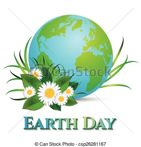 Free clipart earth day april 22 banner black and white download Clip Art Vector of Postcard on April 22 - Earth day. Globe with ... banner black and white download