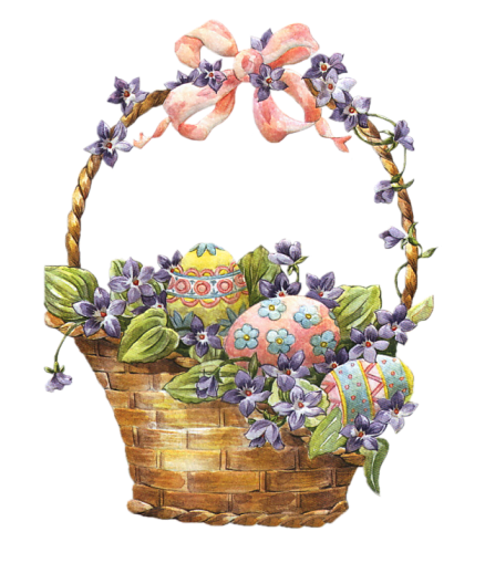 Free clipart easter basket vector royalty free download Easter_Basket_with_Eggs_Clipart.png?m=1362178800 vector royalty free download