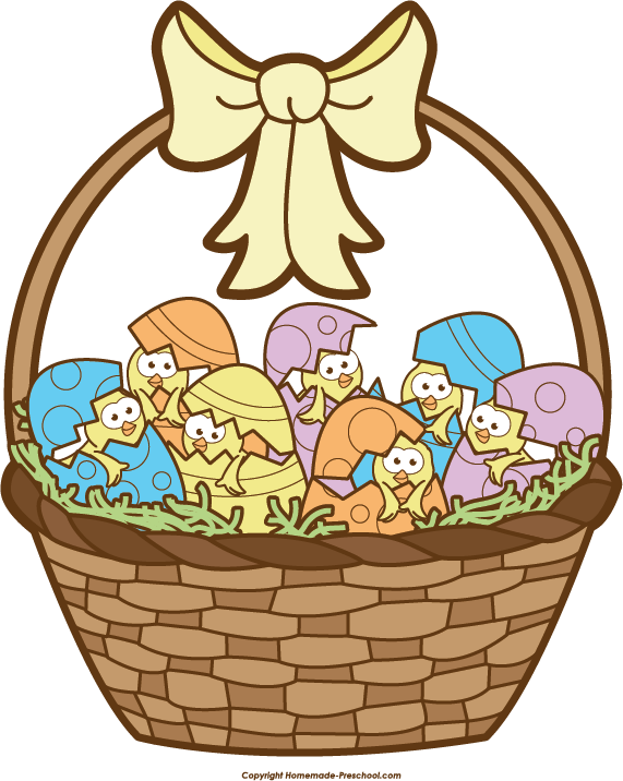 Free clipart easter basket svg library download Free Easter Basket Clipart svg library download