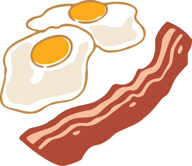 Free clipart eggs and bacon svg HD Vector Eps Clipart, Bacon And Eggs Copyright - Bacon And Eggs ... svg