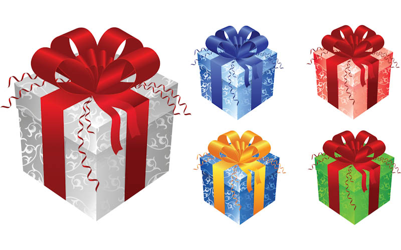 Free clipart facebook christmas gift of chris vector transparent library Free clipart christmas present box - ClipartFest vector transparent library