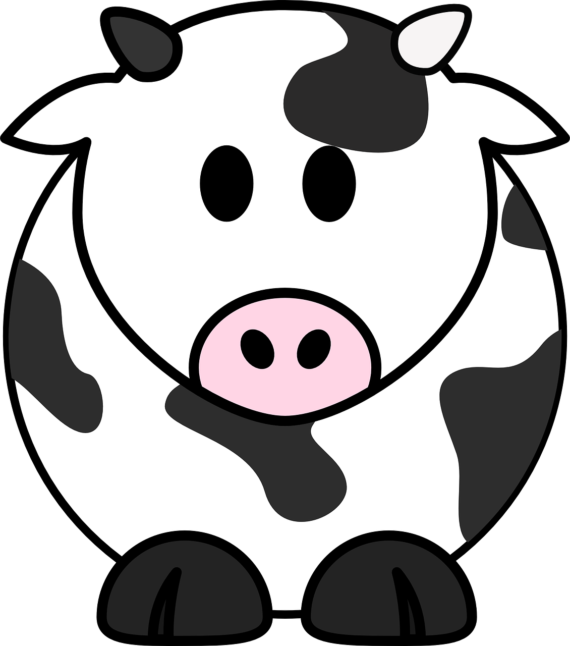 Free clipart farm animals black and white cow picture library stock Free Image on Pixabay - Milk Cow, Cow, Cattle, Black, White | Cow ... picture library stock