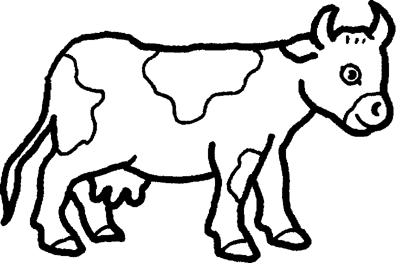 Free clipart farm animals black and white cow graphic stock Domestic Animals PNG Black And White Transparent Domestic Animals ... graphic stock