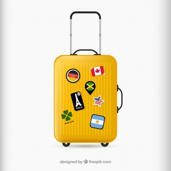 Free clipart female traveler silhouette with luggage picture freeuse Luggage Vectors, Photos and PSD files | Free Download picture freeuse