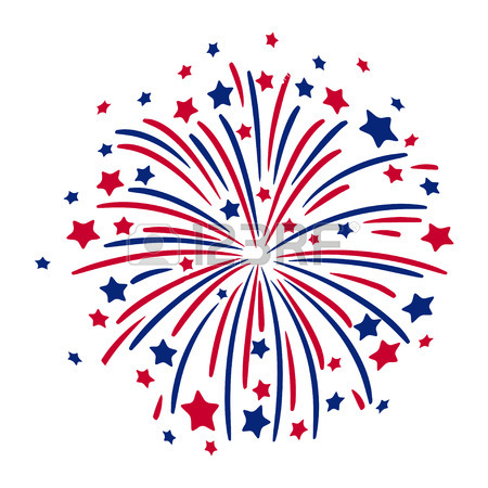 Red white and blue firework clipart banner freeuse download Firecracker Clipart | Free download best Firecracker Clipart on ... banner freeuse download