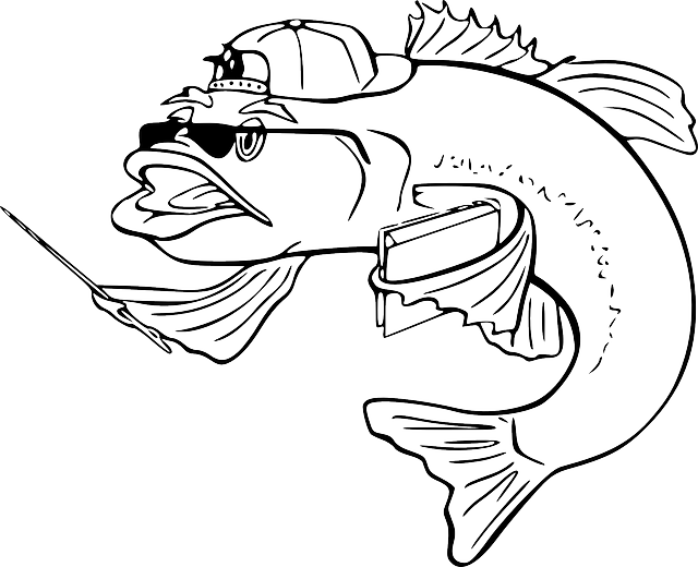 Free clipart fish outline clip free Free Black Outline Of A Fish, Download Free Clip Art, Free Clip Art ... clip free